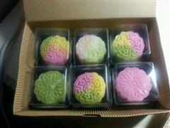 幻彩椰蓉冰皮月饼