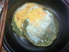 麦青鸡蛋饼