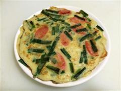 鸡蛋火腿韭菜煎饼