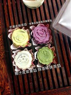 冰皮月饼 附紫薯馅制法