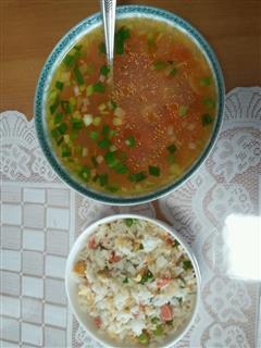 蛋炒饭+罗宋汤