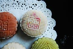 最爱 那一抹花瓣-彩色冰皮月饼