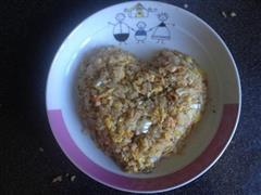 大虾白菜丁蛋炒饭