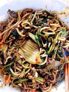 麻辣香锅式蔬菜炒面