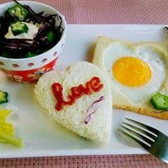 吐司煎蛋-用食物表达爱
