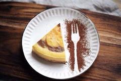 双拼咖啡芝士蛋糕
