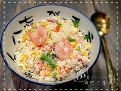 冒充白饭的花菜-虾仁蛋炒饭