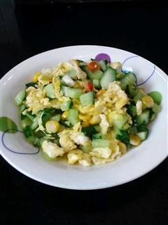玉米黄瓜炒鸡蛋