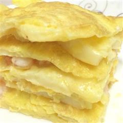 快手早餐日本豆腐鸡蛋饼