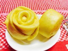 详解-黄色玫瑰馒头