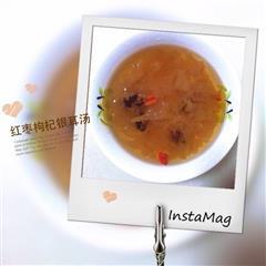 红枣枸杞银耳汤