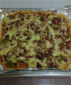 培根肉松披萨