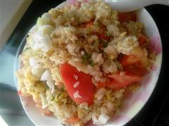 西红蛋炒饭