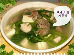 冬季菠菜豆腐排骨汤