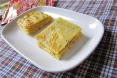 葱花榨菜鸡蛋饼-乌江榨菜