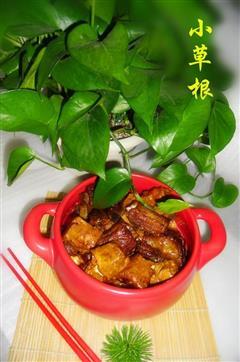 砂锅红烧排骨豆腐