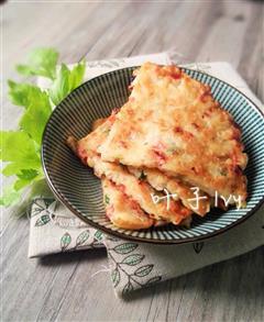 鱿鱼泡菜煎饼