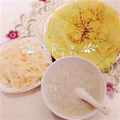 芹菜土豆丝鸡蛋饼