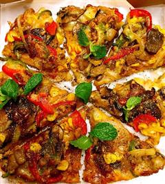 蘑菇培根芝士披萨