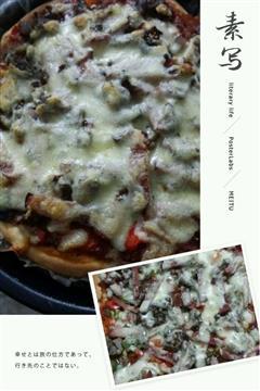 黑椒牛肉培根披萨