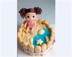 沙滩女孩冻芝士蛋糕