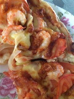自制海鲜披萨