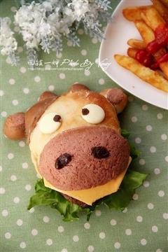 萌萌哒小奶牛汉堡包