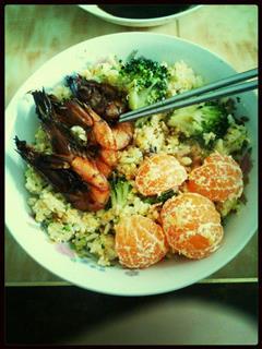 黑暗料理-西兰花橘子蛋炒饭