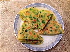 韭菜玉米肠鸡蛋饼