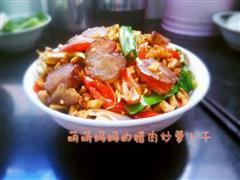 湘菜代表派-腊肉炒萝卜干