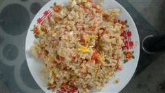 胡萝卜火腿蛋炒饭