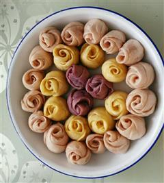 紫薯玫瑰小馒头