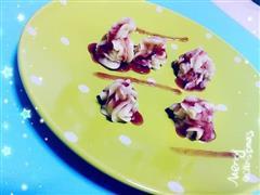 花样蓝莓土豆泥