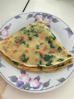 早餐鸡蛋什锦煎饼