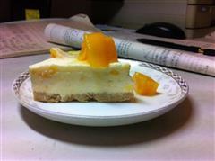烤冻芒果芝士蛋糕