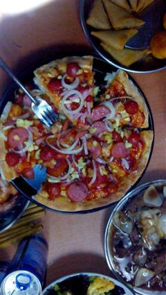 光波炉制作披萨