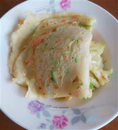 西葫芦胡萝卜丝煎饼