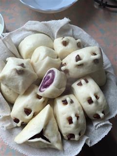 紫薯奶馒头