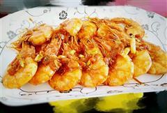 茄汁油焖大虾