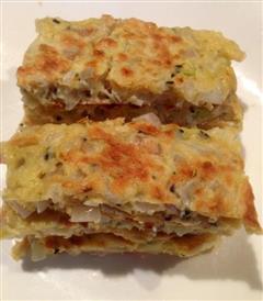 虾皮洋葱煎饼-快手早餐