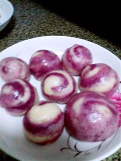 紫薯螺旋小馒头