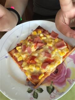 吐司披萨美味早餐