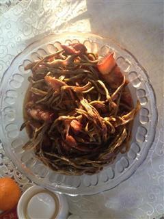 红烧肉干豆角