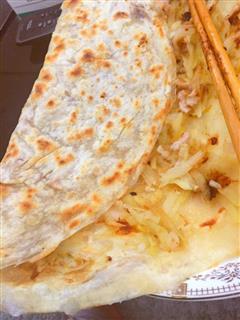 天台小吃/糊拉它 肉末土豆丝煎饼