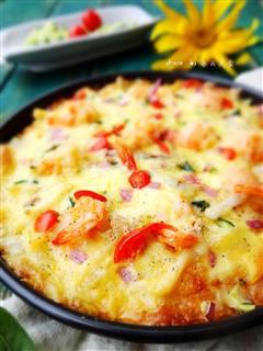 剩米饭好去处-海鲜米饭披萨