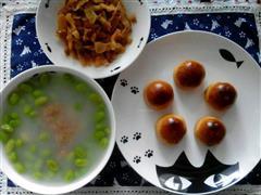 栗馒头&毛豆白粥&榨菜&小番茄