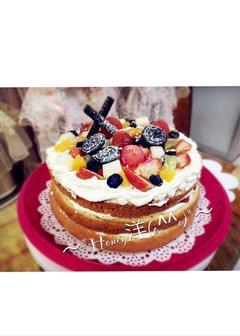 戚风蛋糕裸蛋糕