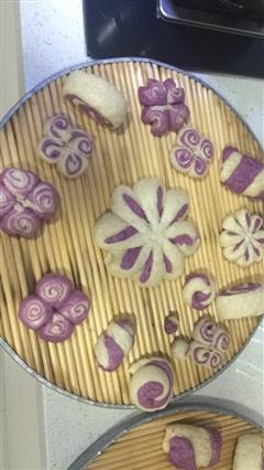 紫薯花馒头