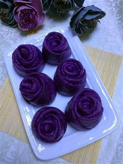 —紫薯玫瑰花花卷