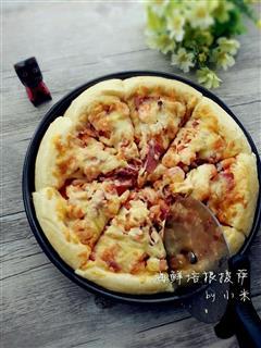 海鲜培根披萨